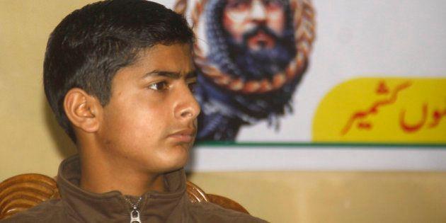 SRINAGAR, INDIA - FEBRUARY 6: Ghalib son of Afzal Guru during one day seminar organised by ( HCJK) Hurryait...