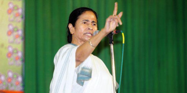 KOLKATA, INDIA APRIL 13: Trinamool congress Supremo and West Bengal Chief Minister Mamata Banerjee addressing...