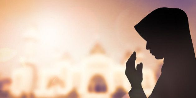 Muslim Woman pray and Beautiful