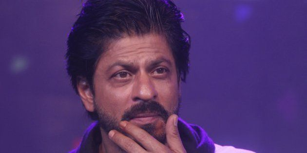 Bollywood superstar Shah Rukh Khan gestures during a press conference on his birthday in Mumbai, India,...