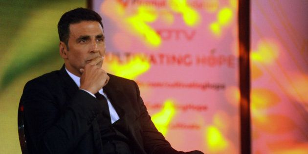 Indian Bollywood actor Akshay Kumar attends NDTV & Piramal Foundations launch of the campaign of 'Cultivating...