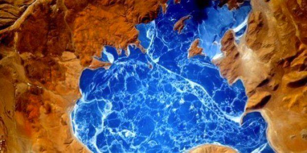 NASA Astronaut Shares Stunning Image Of A Frozen Himalayan Lake From
