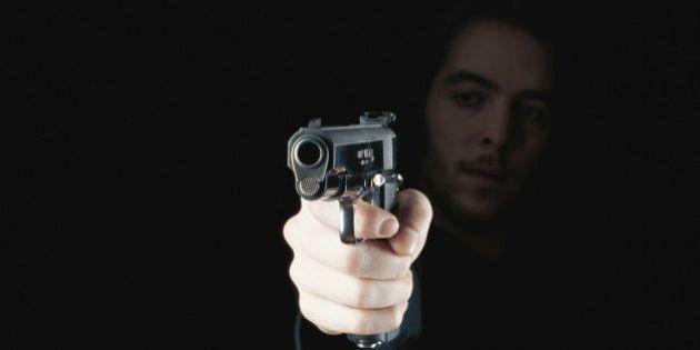 Man holding gun,
