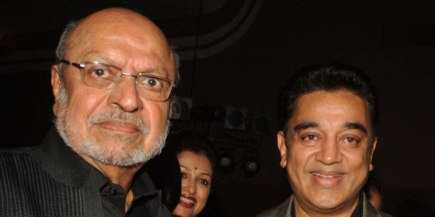 Indian Bollywood directors Shyam Benegal and actor Kamal Haasan attend the opening of the 15th Mumbai...