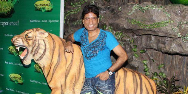 MUMBAI, INDIA - JUNE 17: Raju Srivastava during the launch of the restaurant 'Rainforest Restaurant and...