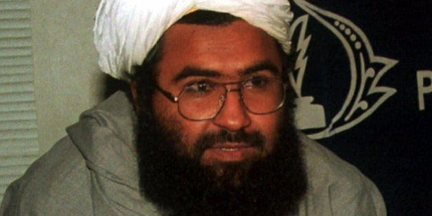 Religious leader of the Harkat ul-Mujahideen Maulana Masood Azhar, who has been released by Indian government...