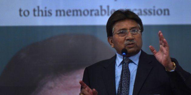 Former Pakistani president and military ruler, Pervez Musharraf addresses a youth parliament in Karachi...