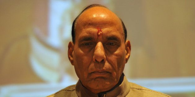 GURGAON, INDIA - JANUARY 6: Union Home Minister Rajnath Singh during the inauguration of the 7th National...