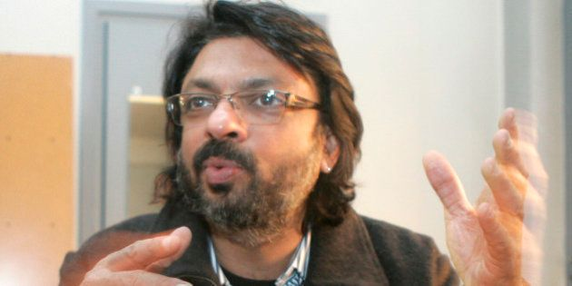 Indian filmmaker and now theater director Sanjay Leela Bhansali answers a question during an interview...