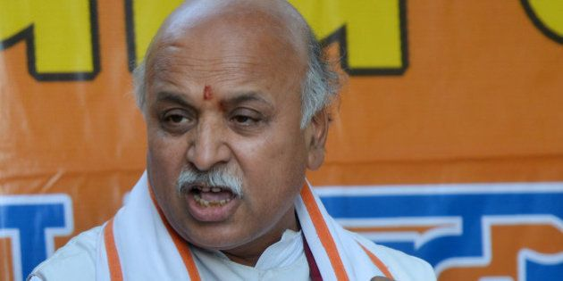 NEW DELHI,INDIA MARCH 21: VHP Leader Praveen Togadia during a Press Conference in New Delhi.(Photo by...