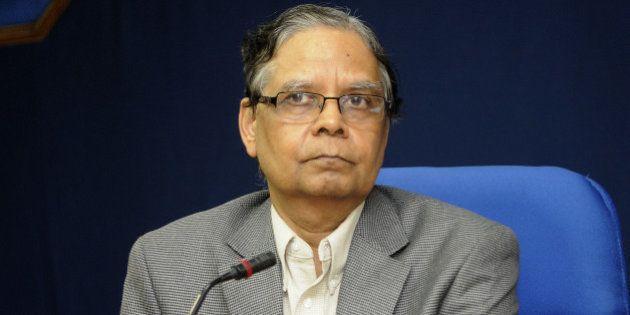 NEW DELHI, INDIA - JULY 15: Vice Chairman of Niti Aayog Arvind Panagariya during a press conference after...