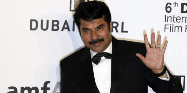 Indian actor Mammootty arrives to attend the Auction for Cinema Against Aids on the sidelines of the...