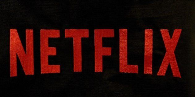 The Netflix logo is pictured on September 15, 2014 in Paris. US online streaming giant Netflix will launch...
