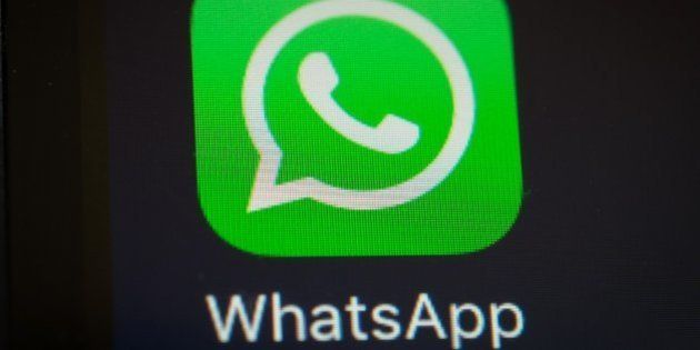 A screen shot of the popular WhatsApp smartphone application is seen after a court in Brazil ordered...