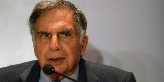 Ratan Tata, Chairman of India's Tata Trust, speaks during a news conference in Mumbai on September 10,...