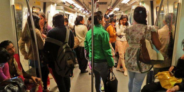 Indian women travel inside