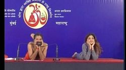 WATCH: Actress Shilpa Shetty And Baba Ramdev's Joint Yoga Session Did NOT Go As