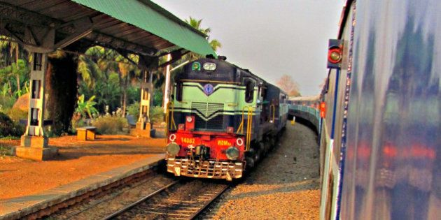 A WDM 3A Diesel Loco pulling an express train towards Bangalore Junction. Caught this pic at a wayside...
