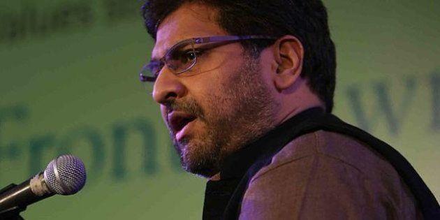JAIPUR, INDIA - JANUARY 20: Anjum Zamarud Habib with Editor of The Hindu Siddharth Varadarajan at Jaipur...