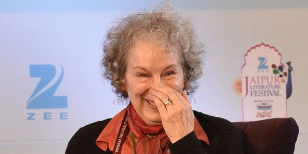 JAIPUR, INDIA - JANUARY 22: Canadian poet and novelist Margaret Atwood during the session 'The Heart...