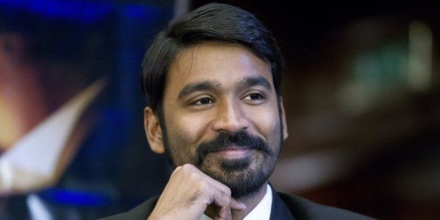 Indian actor Dhanush attends a press conference to promote the film 'Shamitabh' in central London on...