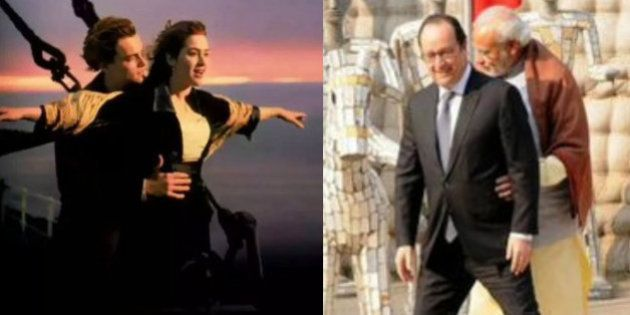 Twitter's Having A Good Laugh At Modi And Hollande's Awkward, 'Titanic'