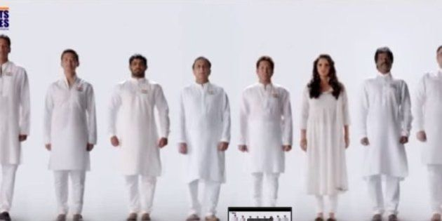 WATCH: Sachin, Sania, Bhupathi And Bhaichung Singing The National Anthem Will Give You