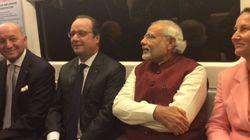 WATCH: Modi Takes A Metro Ride With French President Francois