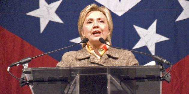 sen. hillary clinton speaks at