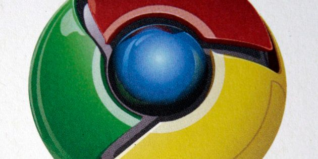 **FILE**In this Sept. 2, 2008 file photo show the logo for the Google Chrome Web browser during a news conference at Google Inc. headquarters in Mountain View, Calif. Google Inc. is shifting its Web browser out of test mode just 100 days after its debut, an unusually quick transition for a company known for keeping the