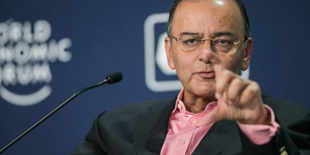 Arun Jaitley, Minister of Finance, Corporate Affairs and Defence of India at the World Economic Forum...