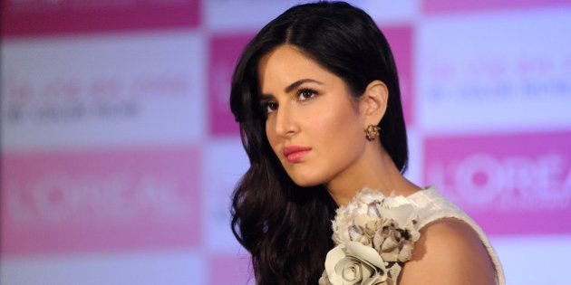 Indian Bollywood actress Katrina Kaif attends an event for LOreal products in Mumbai on January 28, 2016....