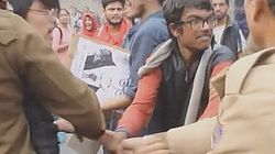 Delhi Police Beat Up Women, Attack Students Protesting Rohith Vemula's Death In Front Of RSS
