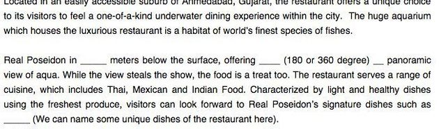 Ahmedabad's First Underwater Restaurant Has Shut Down Just Two Days After Its