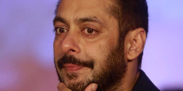 Bollywood actor Salman Khan attends a promotional event for his upcoming movie 'Prem Ratan Dhan Payo'...