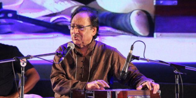 THIRUVANANTHAPURAM, INDIA - JANUARY 15: Pakistani Ghazal Maestro Ghulam Ali performs during musical concert...