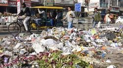 Garbage Piles Up On Roads As MCD Workers' Strike Enters 13th