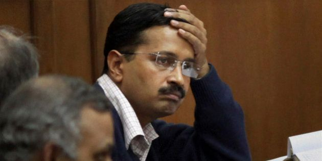 Anti-graft activist Arvind Kejriwal attends a session on Jan Lokpal, a strong legislation to end corruption,...