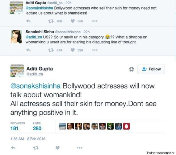 A Woman Accused Sonakshi Sinha Of 'Selling Her Skin' During A Twitter