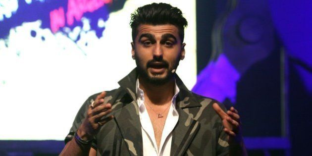 Indian Bollywood actor Arjun Kapoor talks during a promotional event in Mumbai on October 29, 2015. AFP...