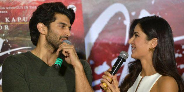 MUMBAI, INDIA JANUARY 04: Aditya Roy Kapur and Katrina Kaif at the trailer launch of their upcoming movie...