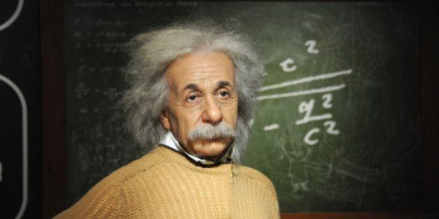 VIENNA, AUSTRIA - SEPTEMBER 02: A general view of wax figure of Albert Einstein is seen at Madame Tussauds...
