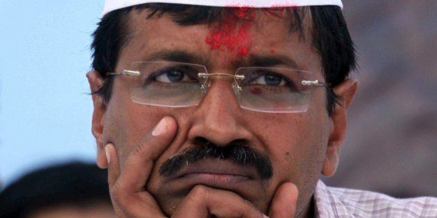 FILE – In this Saturday, March 8, 2014 file photo, leader of Aam Aadmi Party, or Common Man's Party,...
