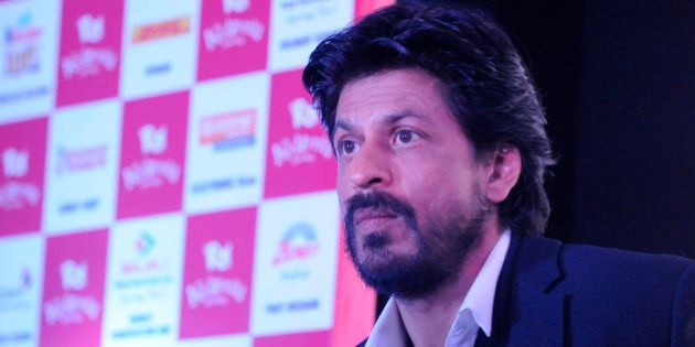 NOIDA, INDIA - JANUARY 29: Bollywood actor Shah Rukh Khan speaks during the formal announcement regarding...