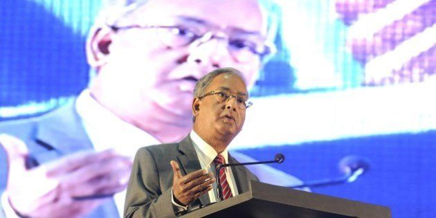 INDORE, INDIA - AUGUST 8: SEBI Chairman U. K. Sinha addresses during the international conference of...