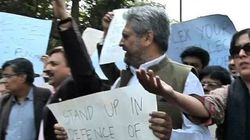 Journalists March To SC In Protest Against 'Manhandling' Of
