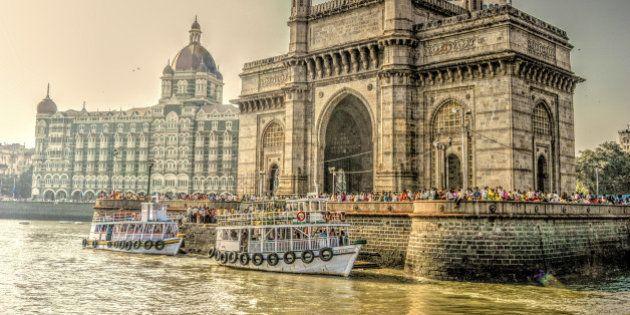 HDR image of Gate Way of India and Taj Mahal Hotel,
