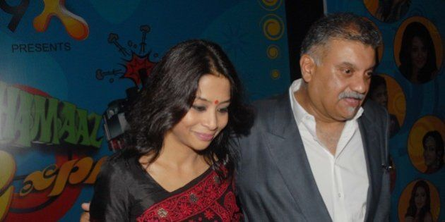 MUMBAI, INDIA - AUGUST 27: (FILE PHOTO) Indrani Mukherjea, founder of 9X Media with her husband former...