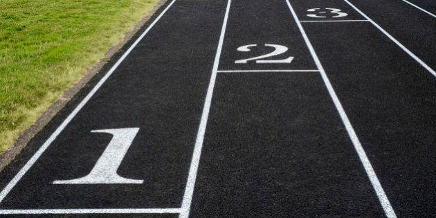 Empty running tracks in sports