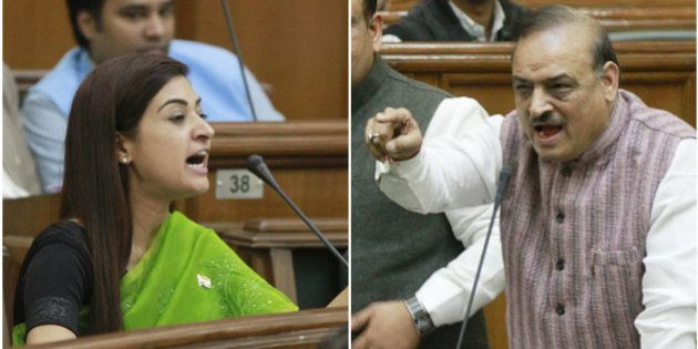 BJP's OP Sharma Faces Expulsion From Delhi Assembly For Sexist Slurs Against AAP's Alka